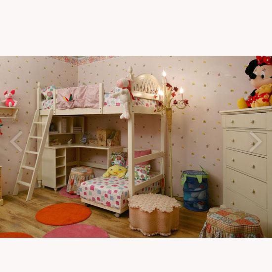儿童家具-儿童双层床景绿乌鲁木齐市花园别墅图片